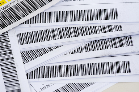 identifying: Detail close up of many barcode