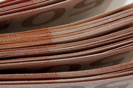 dinero euros: Moneda Euro nota de papel de fondo.