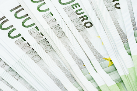 paper note: Moneda Euro nota de papel de fondo.