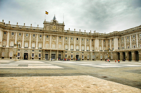king palace: Madrid, king palace museum, Spain .