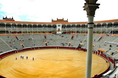 bullfight: Bullfight Arena Square, Madrid - Spain .