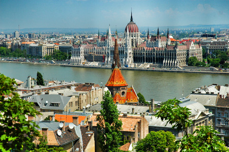 east europe: Parliament in Budapest, Hungary, East Europe . Stock Photo