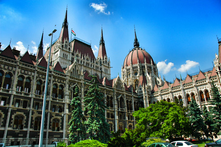 goverment: Goverment Building in Budapest, Hungary, East Europe . Stock Photo