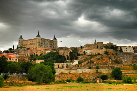 country side: Toledo, country side of Spain Stock Photo