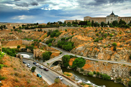 toledo: Toledo country side of Spain Stock Photo