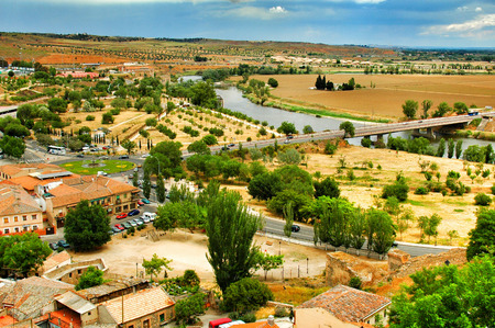 country side: Toledo country side of Spain Stock Photo