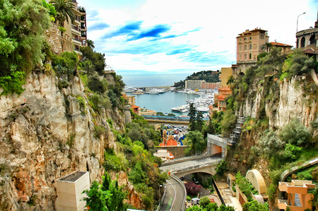 principality: Principality of Monaco mediterranean sea  near France Stock Photo