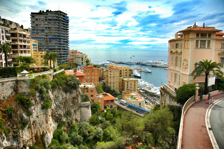Principality of Monaco mediterranean sea  near France Reklamní fotografie