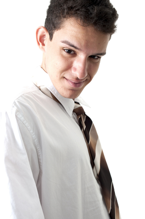 individual: Young Businessman over white background