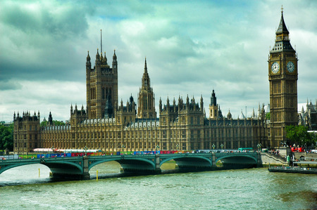 bigben: Picture of London Parliament, big ben Stock Photo