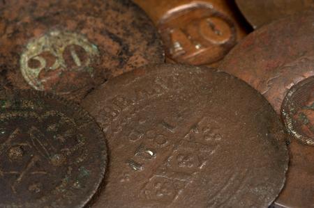 brazilian: Brazilian old coin Background .