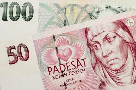 cz: Czech Republic Background currency . Stock Photo
