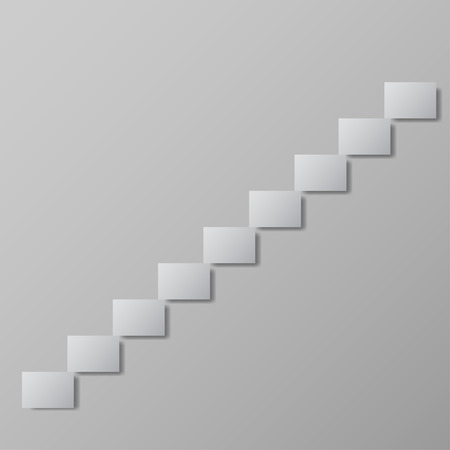 upstairs: staircase upstairs grey vector illustration Conceptual image