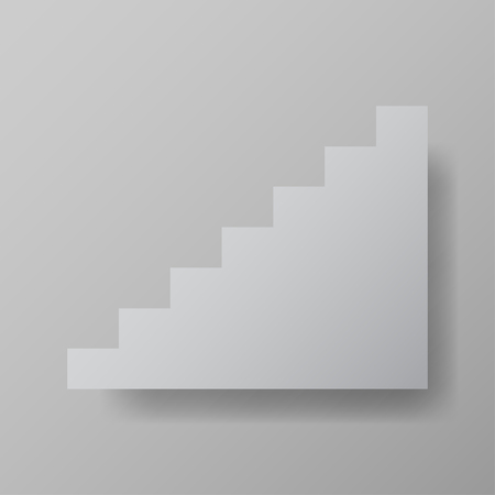upstairs: staircase upstairs grey vector illustration web element Illustration