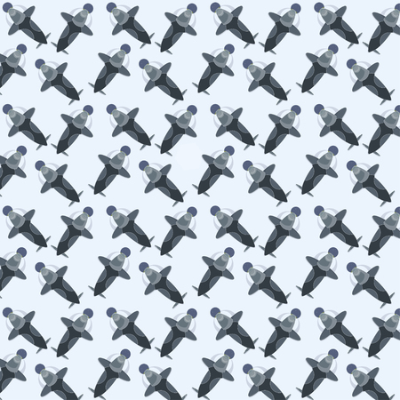 interstellar: interstellar pattern, cosmos spaceship rocket vector pattern Illustration