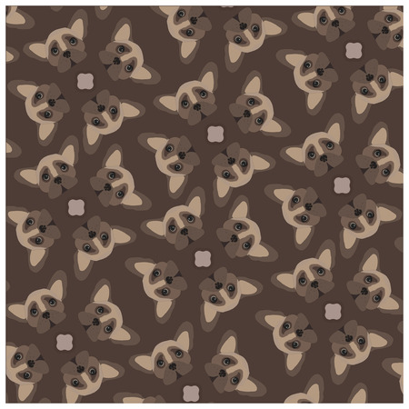 funny boston terrier: dog face pattern.dog face texture.dog face background.dog face banner.dog face title Illustration