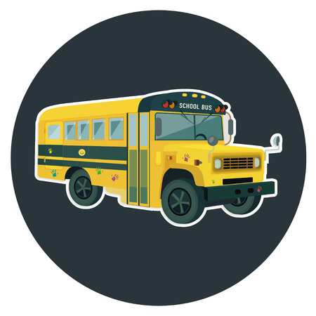 yellow schoolbus: School bus icon. School bus symbol.  School bus bottom. School bus   .  School bus emblem. School bus label. School bus badge.