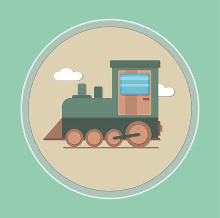reise retro: Lokomotive-Symbol. Loksymbol. Lokomotive unten. Lokomotive. Lokomotive-Emblem. Lokomotive-Label. Lokomotive Abzeichen.