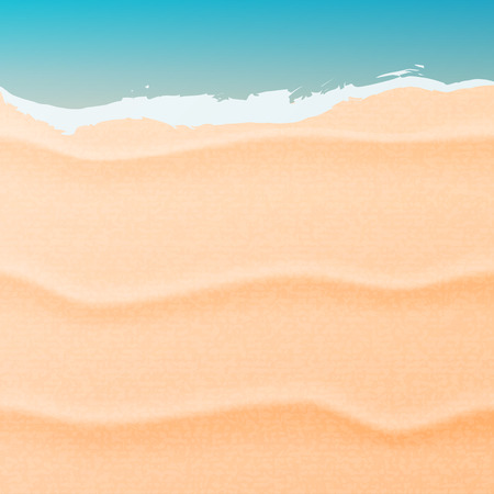 oceanside: Summer background with beach sand and sea. Sand and sea illustration.
