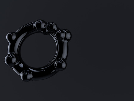 black geometric element. 3d abstract rendering background