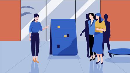 business corporate presentation vector illustration