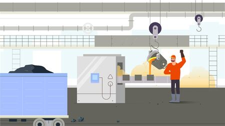 Factory worker inside production. Concept of industrial situation