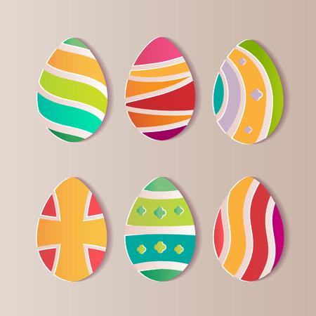 Easter eggs paper. A realistic vector image that simulates paper. Ilustração