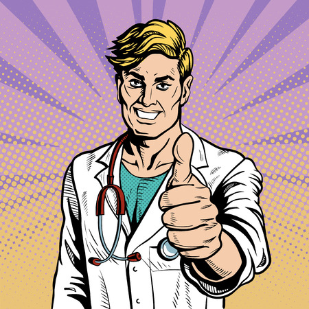 chirurgo: Doctor therapist medicine and health. Vettoriali
