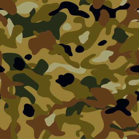 Camouflage seamless pattern. Military texture. Vector background