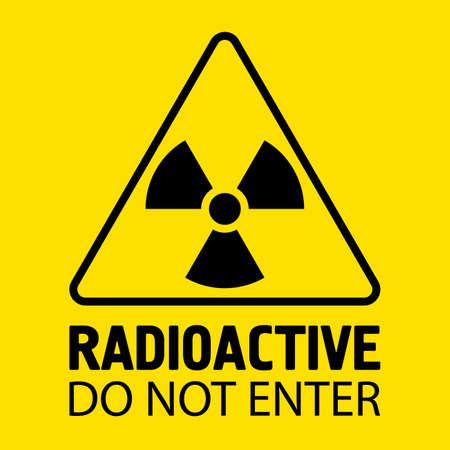 Biohazard sign. Danger symbol. Vector flat icon