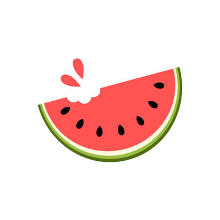 Juicy watermelon slice. Vector illustration