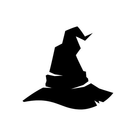 Halloween witch or wizard hat icon