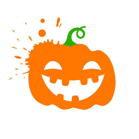 Catroon pumpkin lantern. Halloween vector illustration