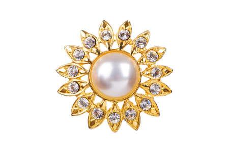 Star shaped pendant on white