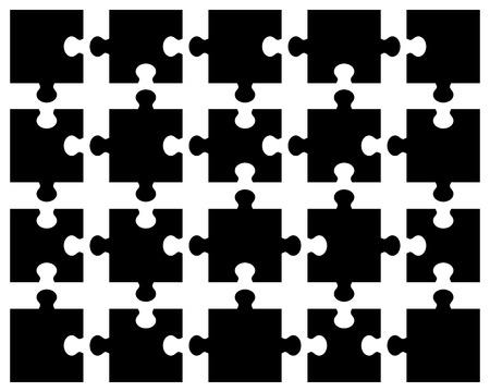 puzzle background: illustration of black puzzle, separate pieces