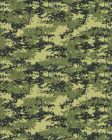 Digital Fashionable Camouflage Pattern Military Print Seamless Illustration Wallpaper Vector