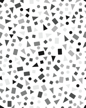 Seamless pattern with confetti of triangles, circles and squares Illustration