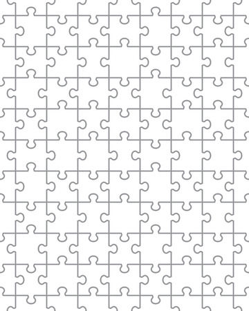 Separate pieces of white puzzle, seamless illustration