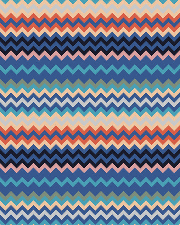 Seamless zigzag lines colored, pattern vector background Illustration