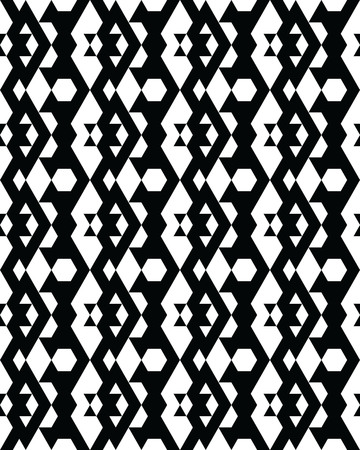 Seamless monochrome geometric patterns, design for packaging, print, covers, cards, wrapping, fabric, paper, interior etc