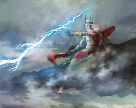zeus king of greek gods Stock Photo