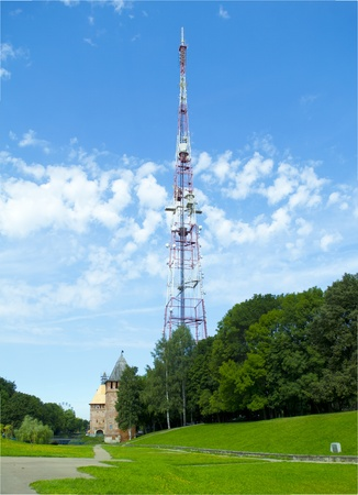 hight tech: TV tower in Smolensk, Russia  Stock Photo