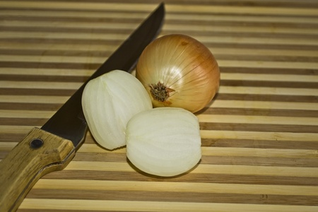 Still life with onion Stock Photo