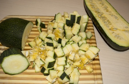 Cutted vegetable marrow Stock Photo - 10978655