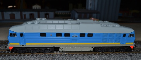Model of diesel locomotive Stock Photo