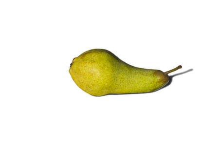 abbot: Green pear Abbot on white background