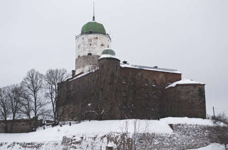 The vyborg castle in winter, Russia 2012 year Editorial