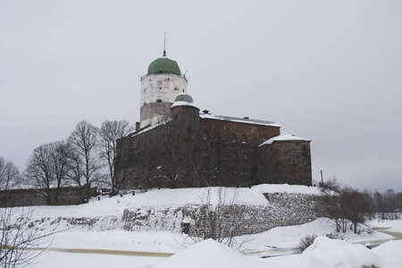 The vyborg castle in winter, Russia 2012 year photo