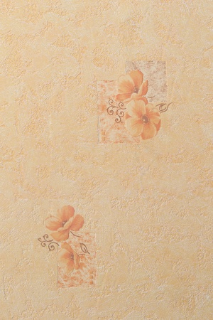 Abstract peachy texture with flowers in square photo