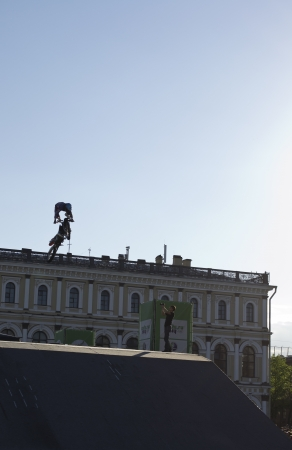 Motofreestyle-show in the festival of innovations and sport